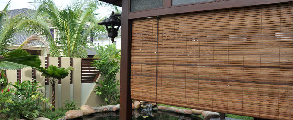 Awesome Exterior Bamboo Shades Photos - Interior Design Ideas ...